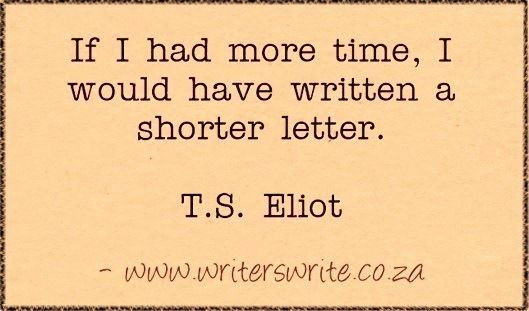 Quotable - T.S. Eliot - Writers Write: