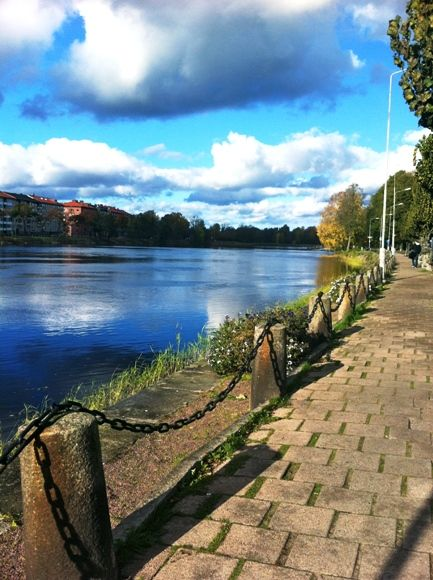 川沿いの散歩 / beautiful walk along the river **from Karlstad, Sweden**