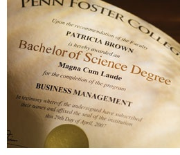 PENN FOSTER COLLEGE BACHELORS DEGREE BUSINESS MANAGEMENT ...
