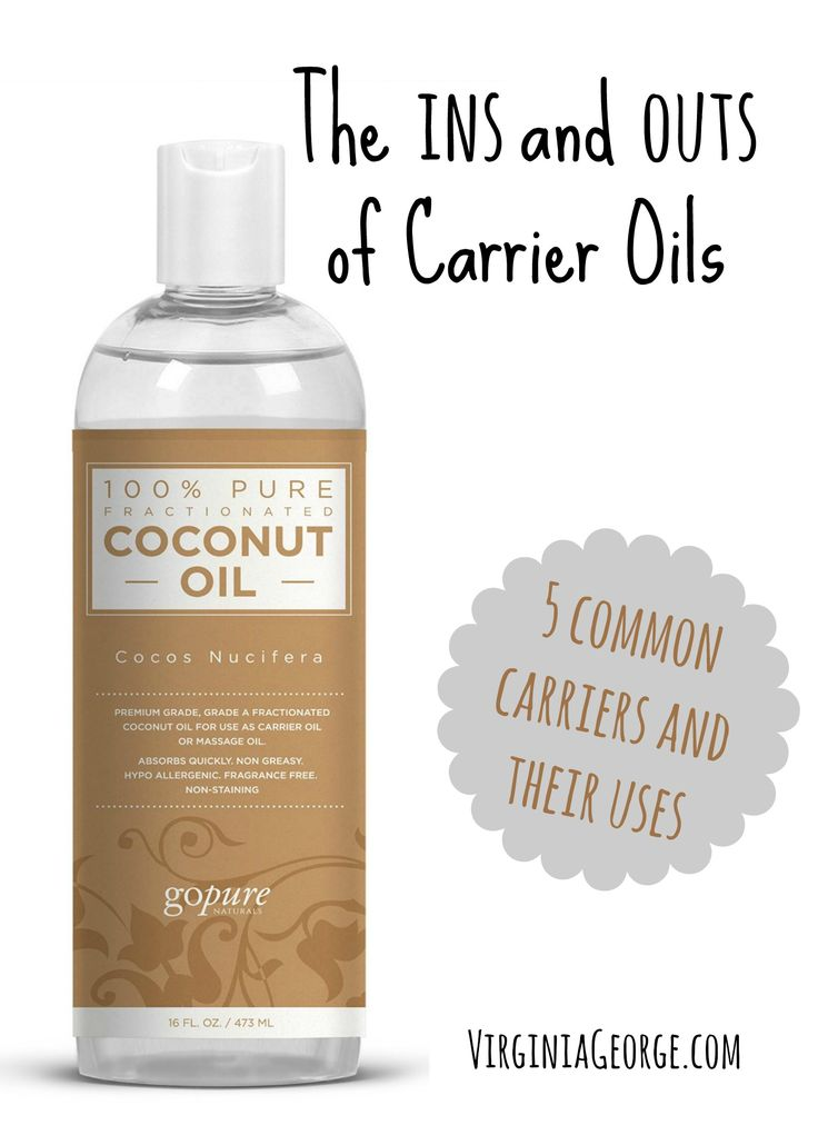 What is a carrier oil? When would you use a carrier oil? Learn about 5 common carrier oils and how to get the right essential oil dilution. | Virginia George