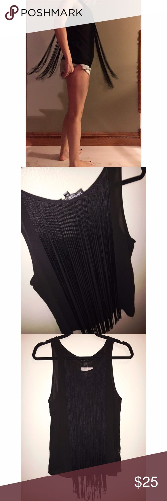 NWT Topshop fringe tank top This top is so fun and too cute on! It's from the petite line but I think it could also work with a regular size 2. 100% poly. Thank you for looking! Topshop Tops Tank Tops