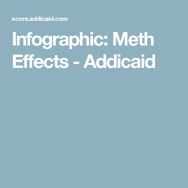 Infographic: Meth Effects - Addicaid