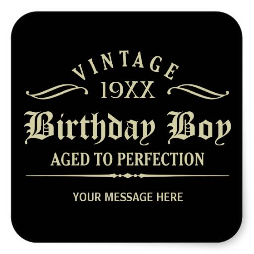 shop personalize funny birthday black square sticker created by giftcy personalize it with photos u0026 text or purchase as is