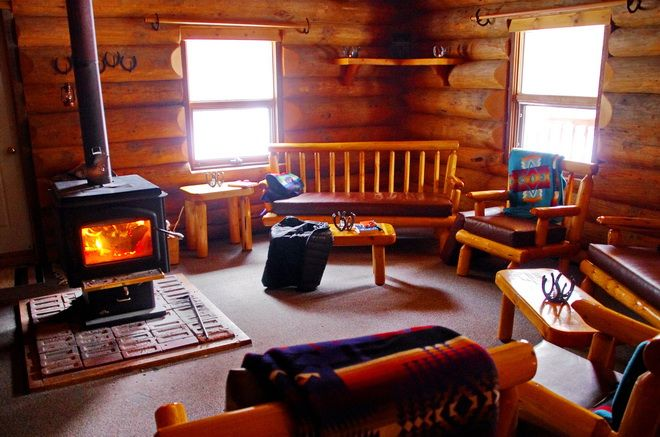 Common area of Sundance Lodge, Banff National Park