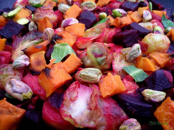 téli vitaminsaláta - Sült cékla és sütőtök, pirított kelbimbóval narancsosan a Zöld Avocado vegetáriánus gasztroblogon (gluténmentes, laktózmentes, tojásmentes, vegán)