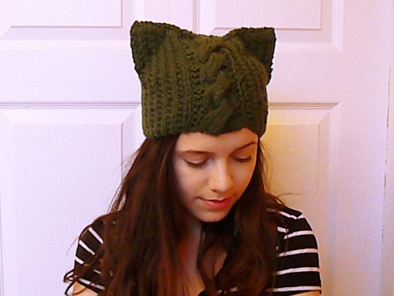 Hey, I found this really awesome Etsy listing at https://www.etsy.com/listing/215461102/cat-ear-hat-cable-ear-beanie-knitting
