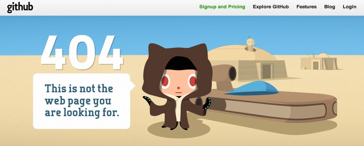 github.com 404 error  This is not the web page you are looking for.