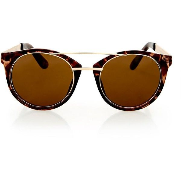 Topshop Lola Laid on Metal Sunglasses (550 UAH) ❤ liked on Polyvore featuring accessories, eyewear, sunglasses, tortoise she, tortoiseshell glasses, metal sunglasses, tortoise shell glasses, tortoise sunglasses and tortoiseshell sunglasses