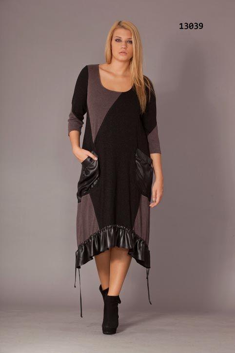 72cd9387e0714d7 Стильные платья для полных женщин турецкого бренда Gemko. Осень-зима 2013 -2014