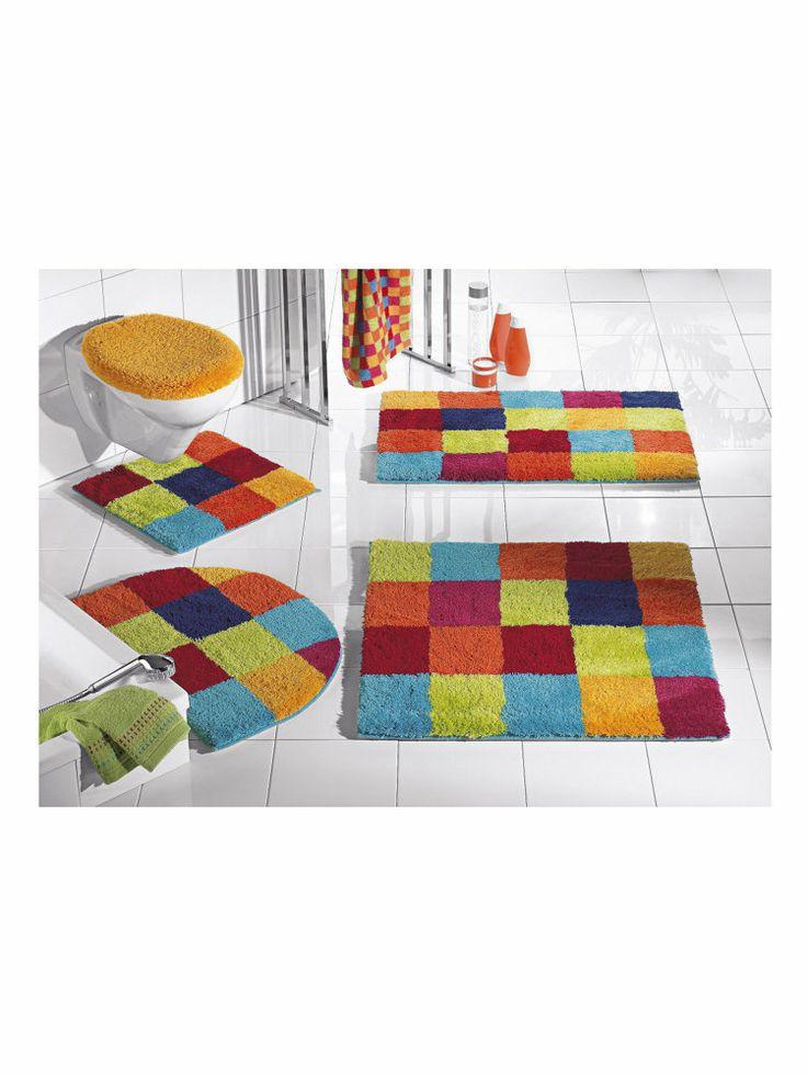 badmatten:Badmat met ruitmotief in veel kleuren.