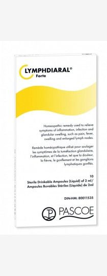 Pascoe Lymphdiaral Forte - Homeopathic remedy used to relieve symptoms of swelling, inflammation and infection, such as pain, fever, swollen lymph nodes due to injury or recurrent conditions such as earaches, tonsillitis, and sinusitis.
