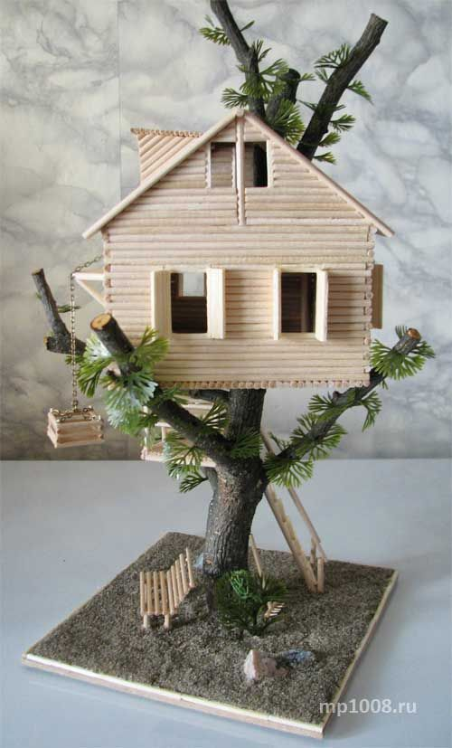361 best popsicle sticks and more images on pinterest for How to build a treehouse with sticks