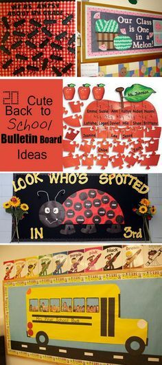 Cute Back to School Bulletin Board Ideas! Change to Look who's spotted in church?