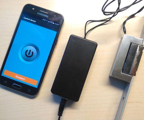 Arduino Bluetooth Controlled Electric Door Opener