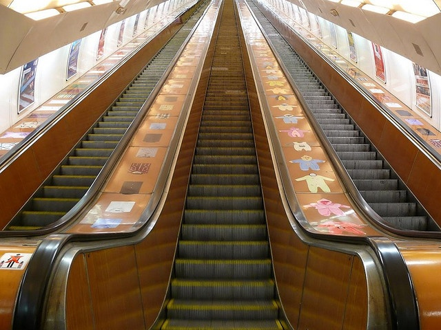 The Prague Metro is a subway, underground public transportation network in Prague, Czech Republic.  It is the fastest means of transportation around the city and serves about one and a half million passengers a day,  which makes it the seventh busiest metro system in Europe.
