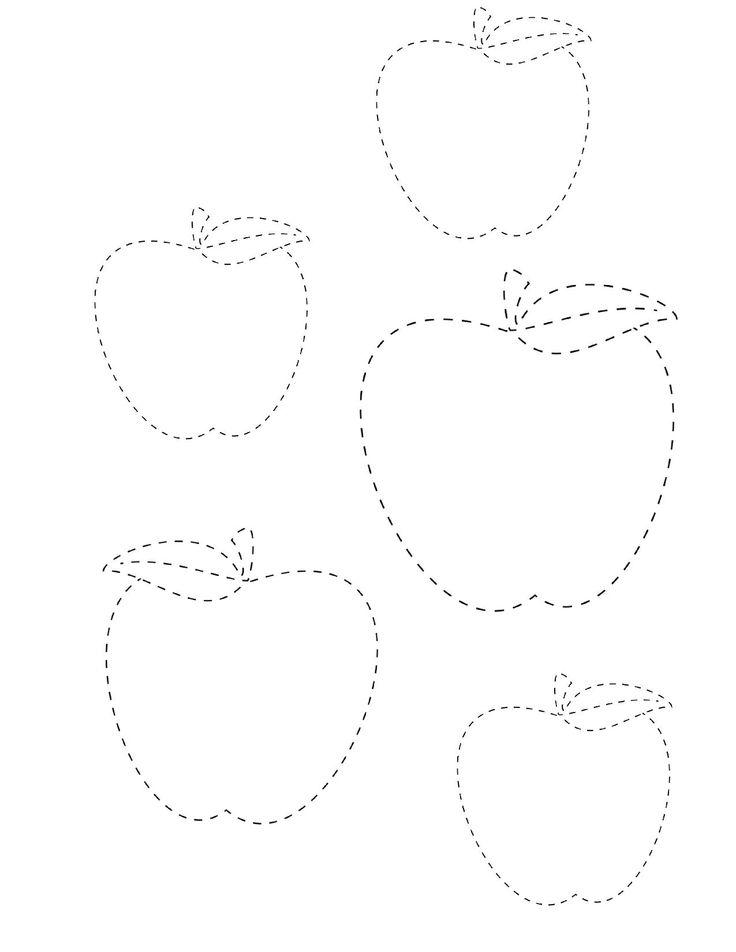 Картинки фрукты по точкам