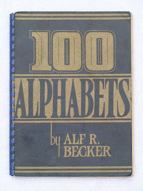 40 best signs books images on pinterest sign painting hand sign lettering books 100 alphabets flickr photo sharing malvernweather Gallery