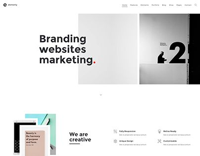 """Check out new work on my @Behance portfolio: """"Elementy - Multipurpose One & Multi Page Template"""" http://be.net/gallery/37907135/Elementy-Multipurpose-One-Multi-Page-Template"""