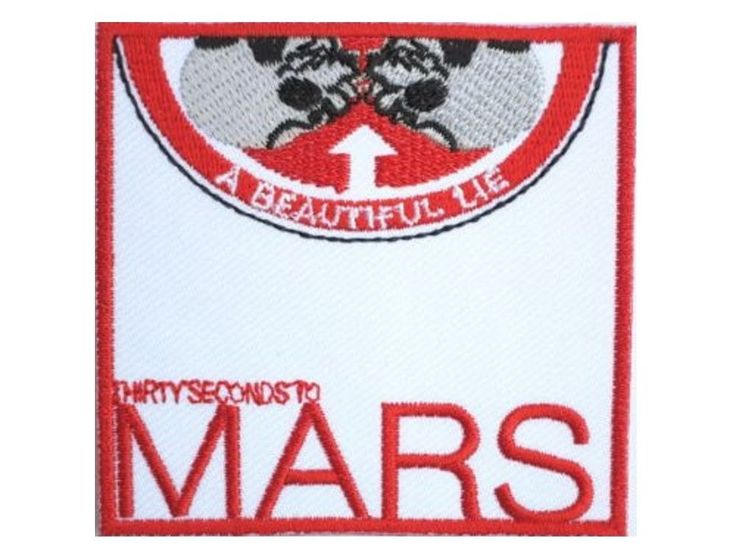 "30 Seconds To Mars Thirty Embroidered Iron On Shirt Bag Badge Patch 2.9""x2.9""  