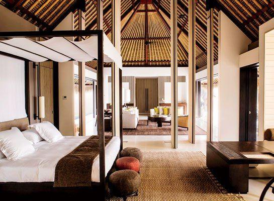 A villa at the Cheval Blanc Randheli in the Maldives.