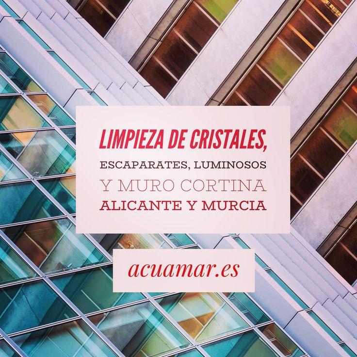 Empresa de limpieza de cristales, escaparates, ventanas, luminosos y muro cortina. En Alicante y Murcia