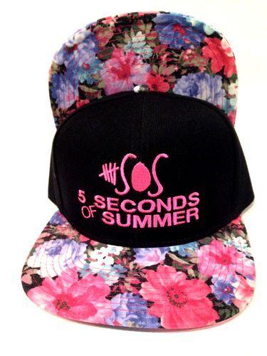 5 Seconds of Summer Flower Animal Print Brim Limited Snapback | eBay