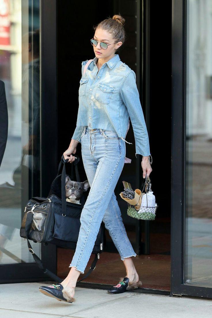 Gigi leaving her apartment in New York, April 16th.