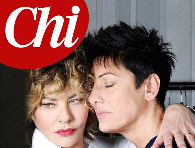 """Eva Grimaldi e Imma Battaglia sulla copertina di Chi: """"Finalmente libere di amarci"""". Il settimanale sarà in edicola l'8 Marzo, il giorno della festa della donna."""