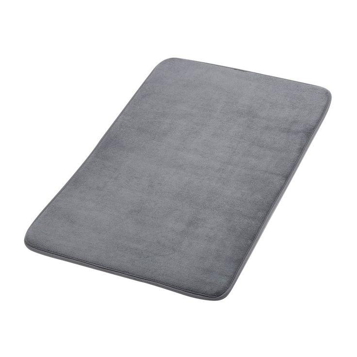 "Bath Mat - Cozime Anti-Bacterial Anti-Slip Bath Mat 20"" x 32"" For Standup Desks, Bathroom, Dorm Room, Kitchen And Other More Humid Use (Dark Grey)"