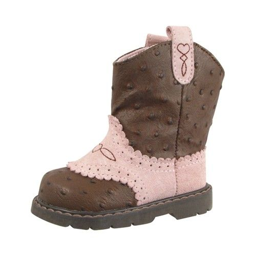 Baby Girl Leather Cowboy Boots - Western Style Walking Boot