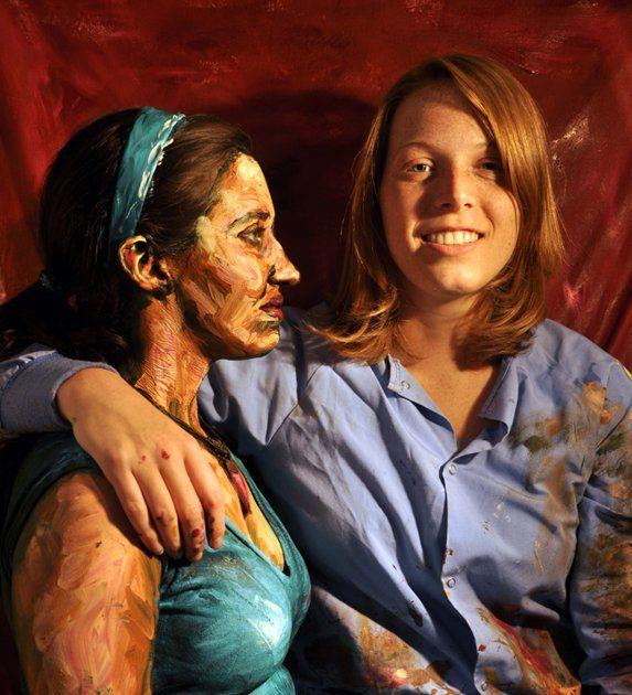 People as paintings by Alexa Meade