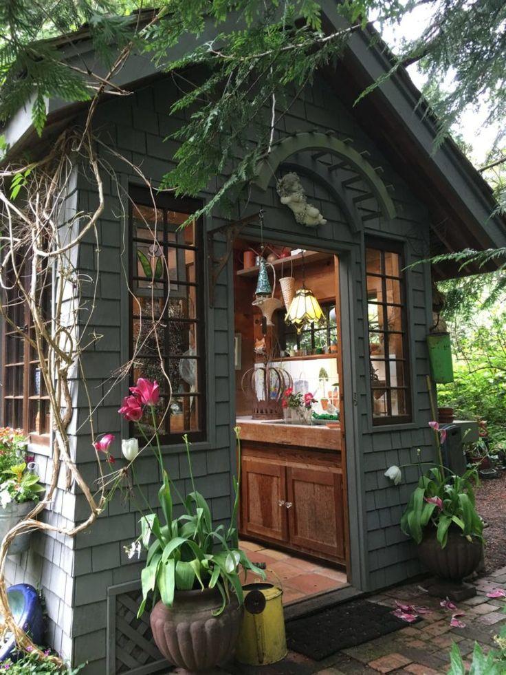 gorgeous rustic garden potting shed take a tour - Garden Sheds Eugene Oregon