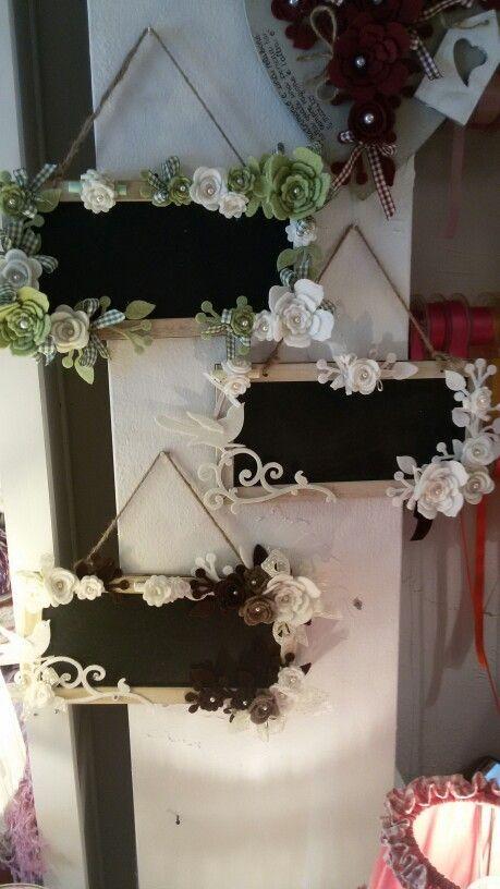 Lavagna con fiori