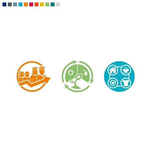 Create our first ever corporate responsibility program icons!
