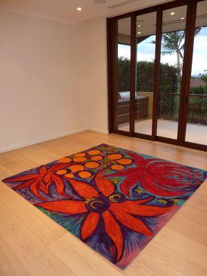 Jenny Kee's Oz Flora Rug created with Korda Design.