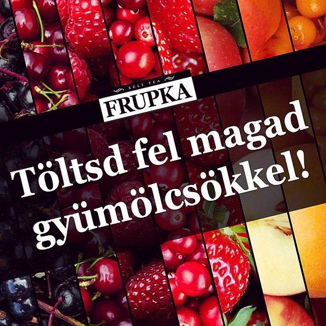 A finom gyümölcsökből sosem elég! Fogyasszatok minden nap friss gyümölcsöt, a kikapcsolódáshoz pedig kortyoljatok eredeti cseh sült teát! :) #frupka #sulttea #sülttea #friss #gyümölcs #tea