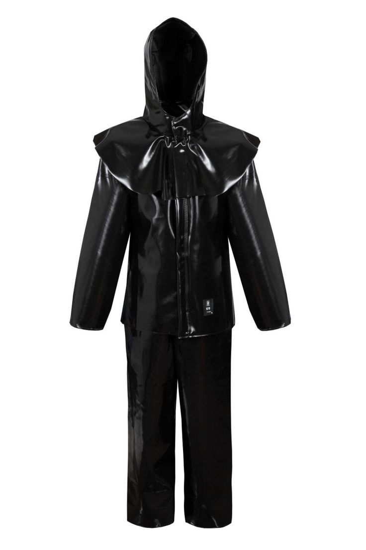 WATERPROOF ACID-LYEPROOF CLOTHING Model: 412 The product is made of fabric called Plavitex Acid - polyester coated of PVC both sides. The suit contains a jacket, bibpants and special hood. The jacket is fastened with hidden snaps under storm flap. The bibpants has adjustable elasticated braces. The product protects workers against concentrated acids, alkalis and saline solutions (H2SO4, HNO3, HCL, NaOH).