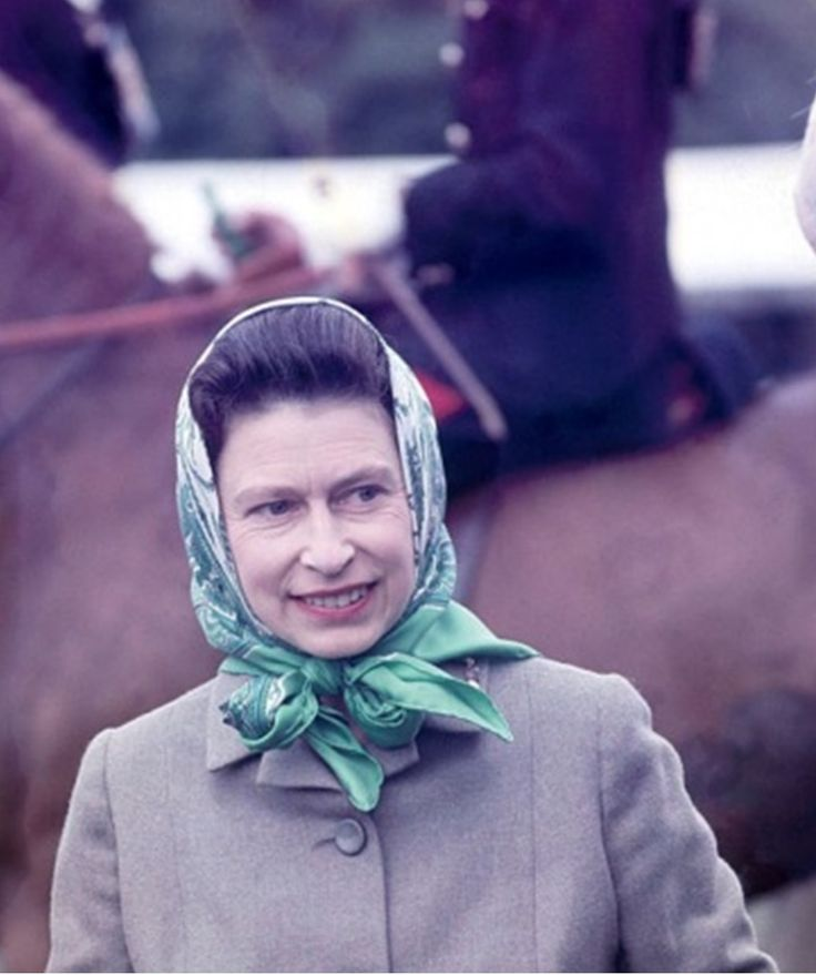 May 11, 1968 Queen Elizabeth II during the Royal Windsor Horse Show in Berkshire