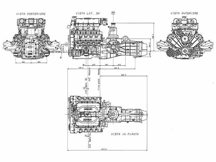 Ferrari 456 M Engine Blueprint