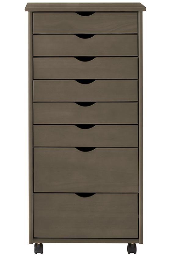 Stanton 6 + 2 Drawer Wide Storage Cart