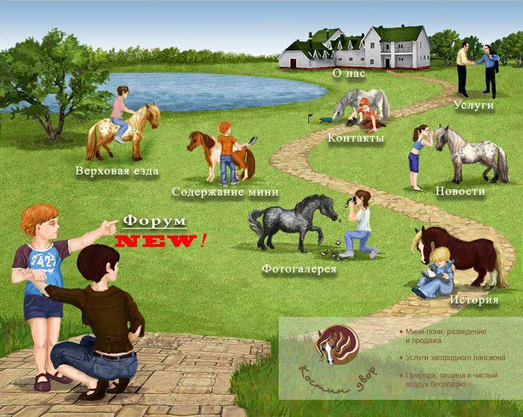 Мини лошади, пони в Подмосковье, Верховая езда для детей и взрослых