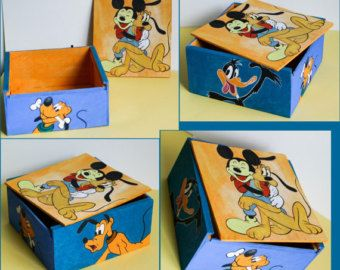 Painted Disney WoodBox for Accessories - Edit Listing - Etsy