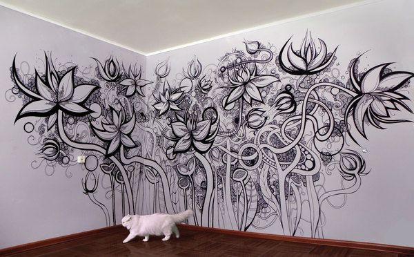 Wall artCketterhagen Doodles, Art Cketterhagen, Wall Art, Beautiful Wall, Art Fantastic, Ideas Wall, Art Doodle Ideas, Totally, Doodles Ideas
