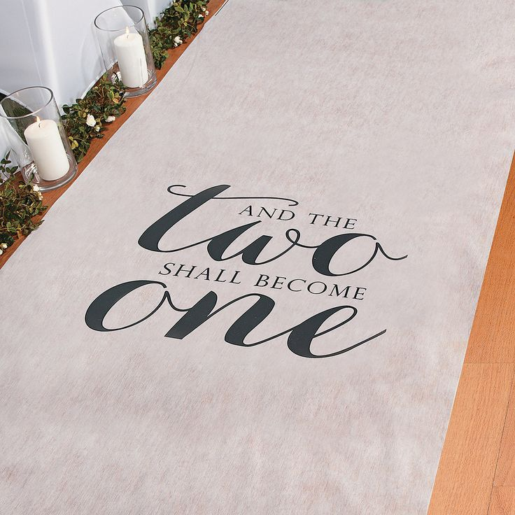 Two+Become+One+Wedding+Aisle+Runner+-+OrientalTrading.com