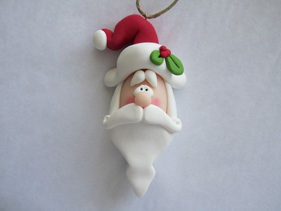 *POLYMER CLAY ~ Santa Ornament