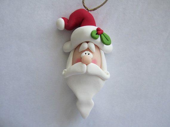 *POLYMER CLAY ~ Santa Ornament