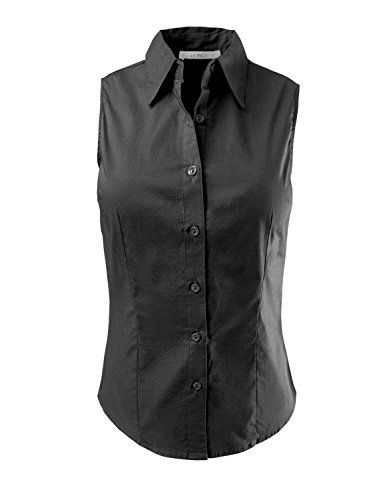 Special Offer: $17.24 amazon.com This lightweight cotton sleeveless button down shirt is perfect for work attire or for a casual relaxed look. Wear it with our pencil midi skirt to the office or with denim shorts when running errands. Sizing Info Small- Bust: 32in Shoulder: 13.5in Length:...