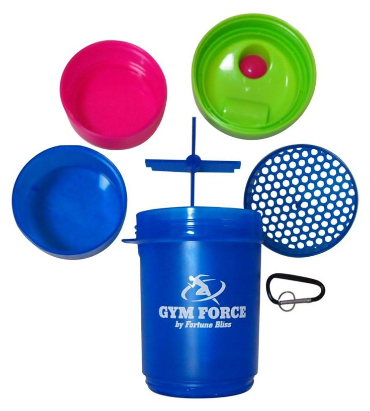 Amazon.com: Bodybuilding Shaker Bottle | GYM FORCE #1 Weight Loss Diet BPA Free Smart Protein Shakers Quality Guaranteed with Travel Compartment Stainless Steel Blender Ball: Health & Personal Care