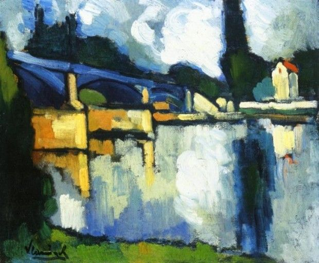 Maurice de Vlaminck, The Bridge At Chatou, 1907, Private Collection