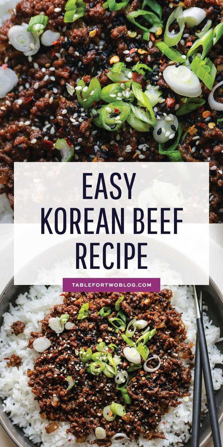 Korean Beef Easy Korean Ground Beef Recipe Healthy Beef Recipes Ground Beef Recipes Healthy Beef Recipes Easy